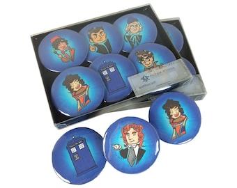 Dr. Who Button Set