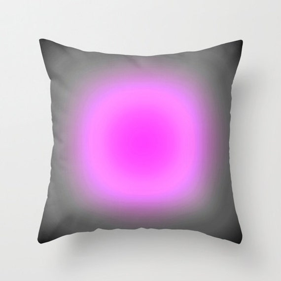 Pillow Cover Pink Lavender & Gray Focus Throw Pillow Pink