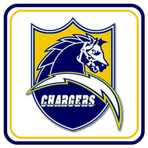 Items Similar To San Diego Chargers Old Logo 4 Inch Square