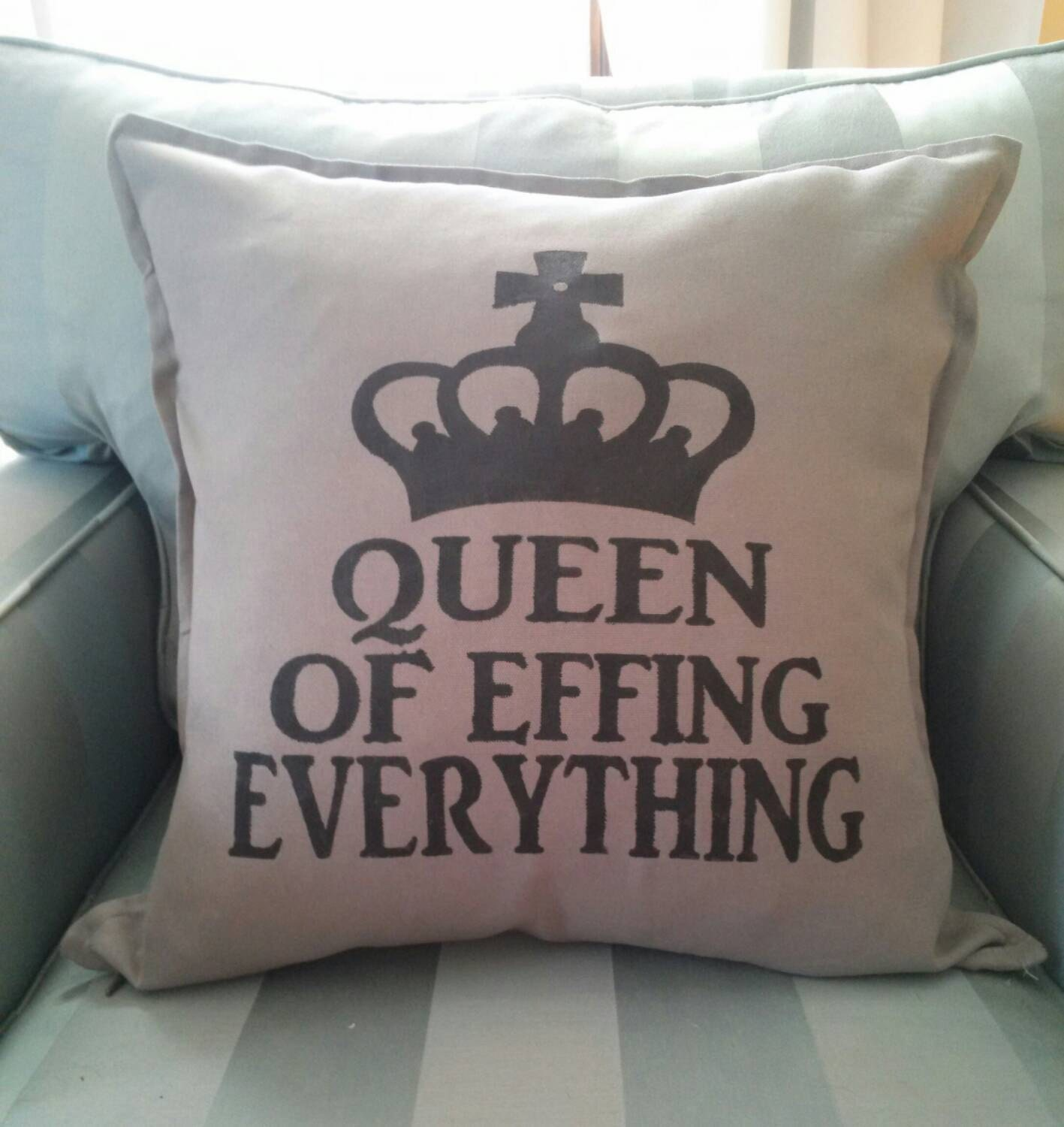 Bedroom throw pillows queen of everything throw by 42ndstdesigns - Bedroom decorative pillows ...