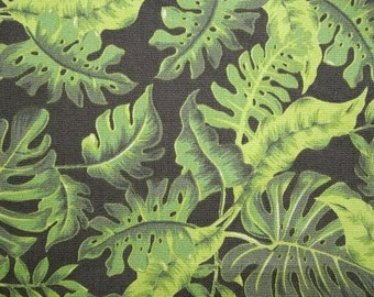 Elephants - Green Foliage Fabric