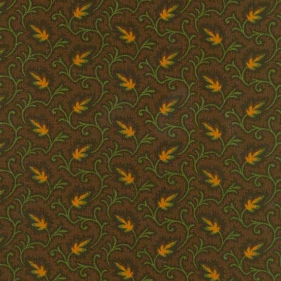 Northern Lights Fabric : Thimbleberries northern lights brown leaf fabric