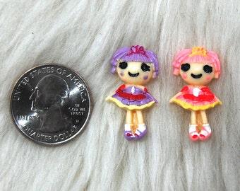 Lala Loopsy Doll Cabochon- 2pcs