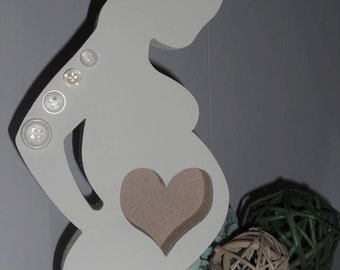 Wooden Freestanding Baby Scan Frame