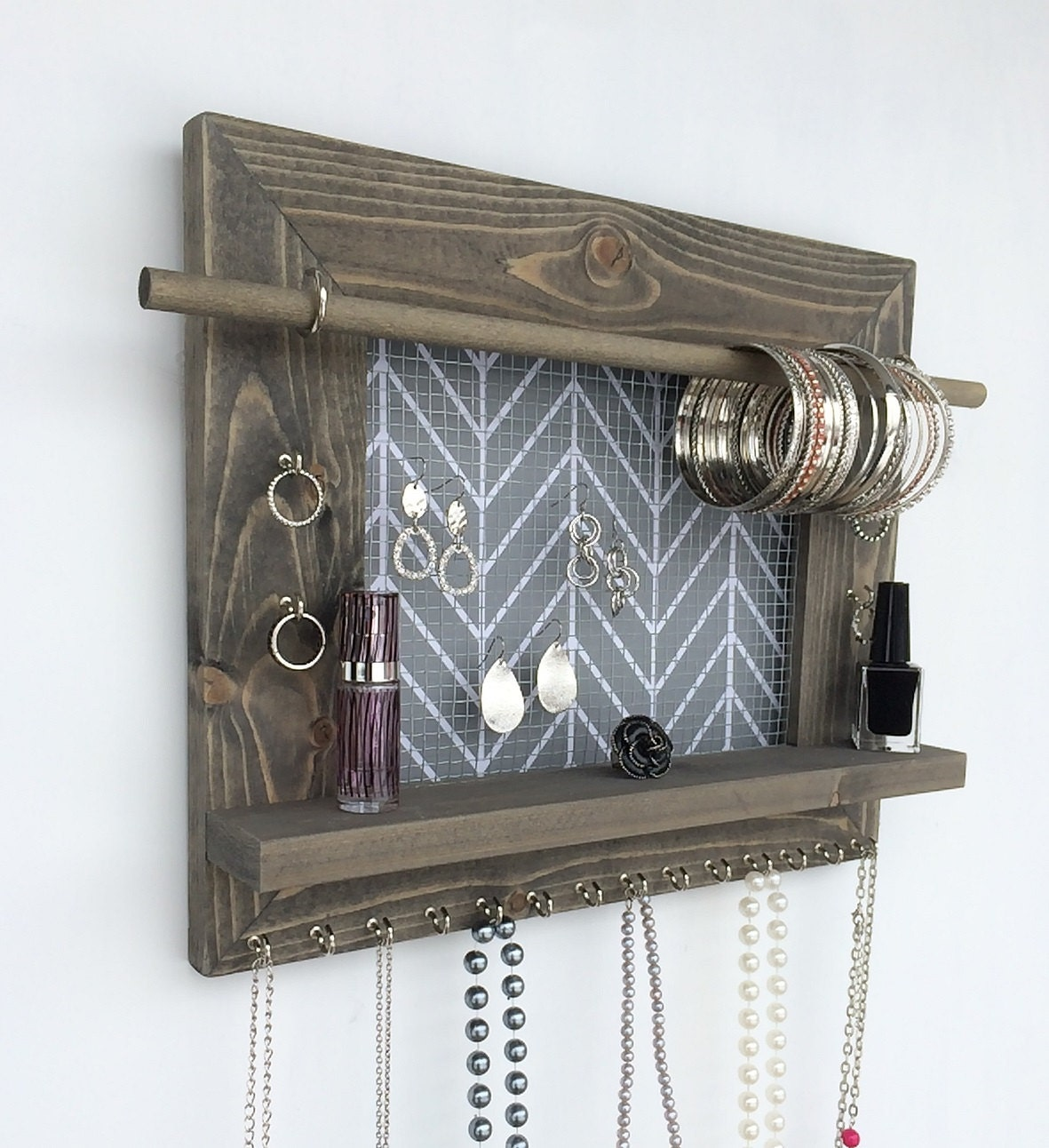 large size free shipping jewelry organizer wood by