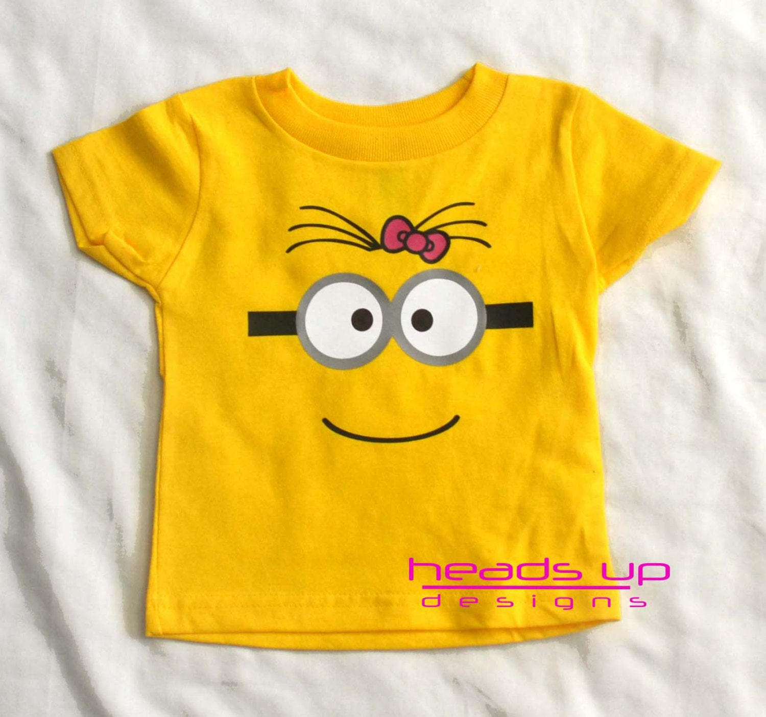 minion onesie baby girl toddler girl minion with by. Black Bedroom Furniture Sets. Home Design Ideas