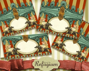printable Candy Topper Circus INSTANT DOWNLOAD,  Digital Collage Sheet