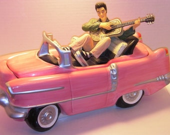 Elvis Presley Pink Cadillac Cookie Jar