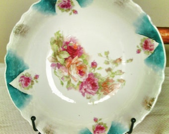 Antique Fine China Serving Bowl