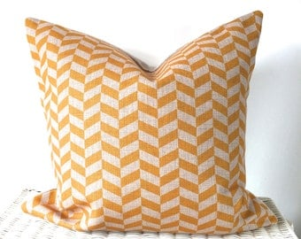 Yellow chevron cushion yellow zig zag cushion cover