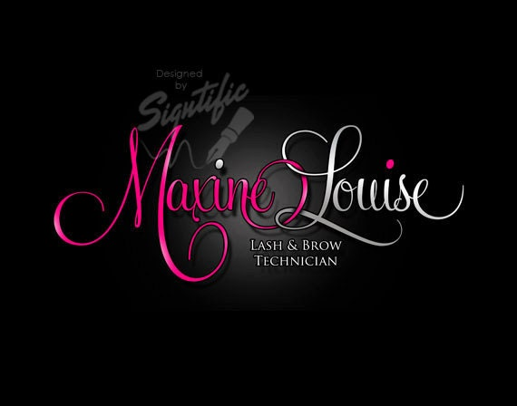 Ooak Beauty Salon Logo Free Business Card Design Pink And