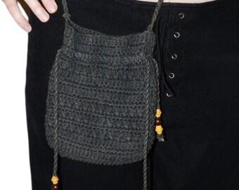 Vintage Small Black Pouch / Crossbody Bag