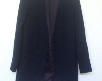 Mid- 1980's Dark Navy Ann Taylor Suit Jacket.