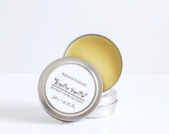 Basil & Vanilla Lip Balm - All Natural Lip Balm, Vegan Lip Balm, Organic Lip Balm, Lip butter, Baume à Lèvres Vanille et Basilic