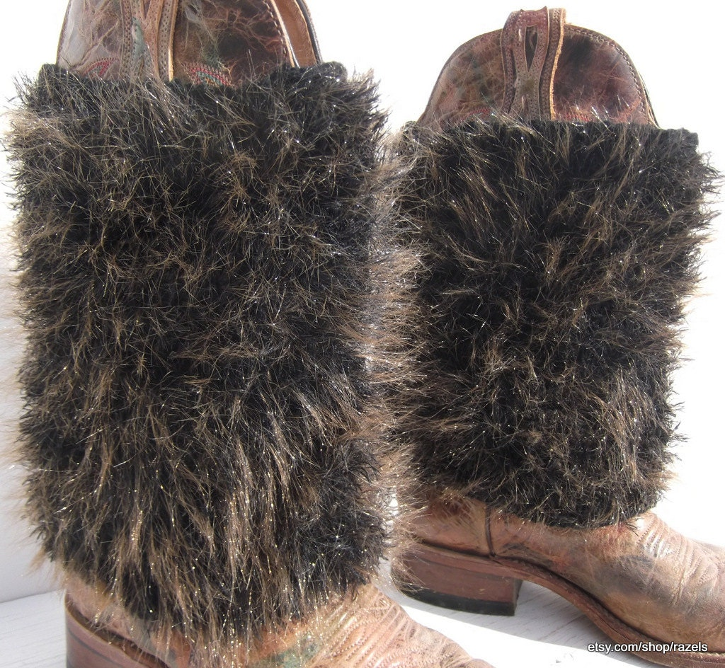 brown faux fur boot covers boot covers
