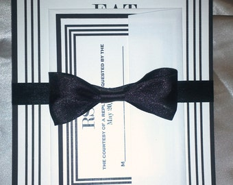 Black and White Themed Invitation Suite