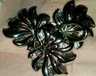 Vintage Brooch with Flowers Made by Monet.
