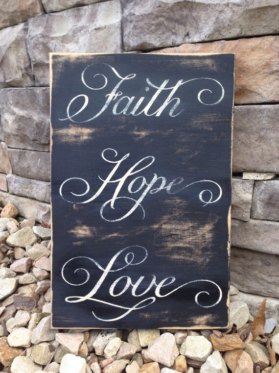 Shabby Chic wood sign Primitive Home Decor by