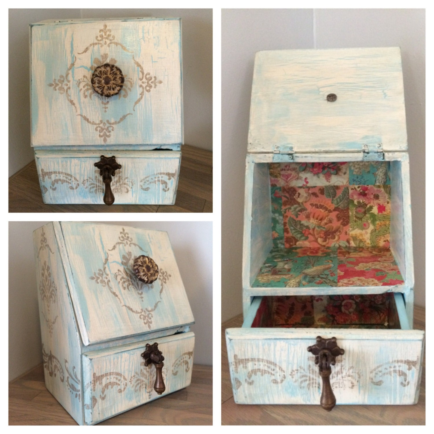 shabby chic decorative storage box. Black Bedroom Furniture Sets. Home Design Ideas