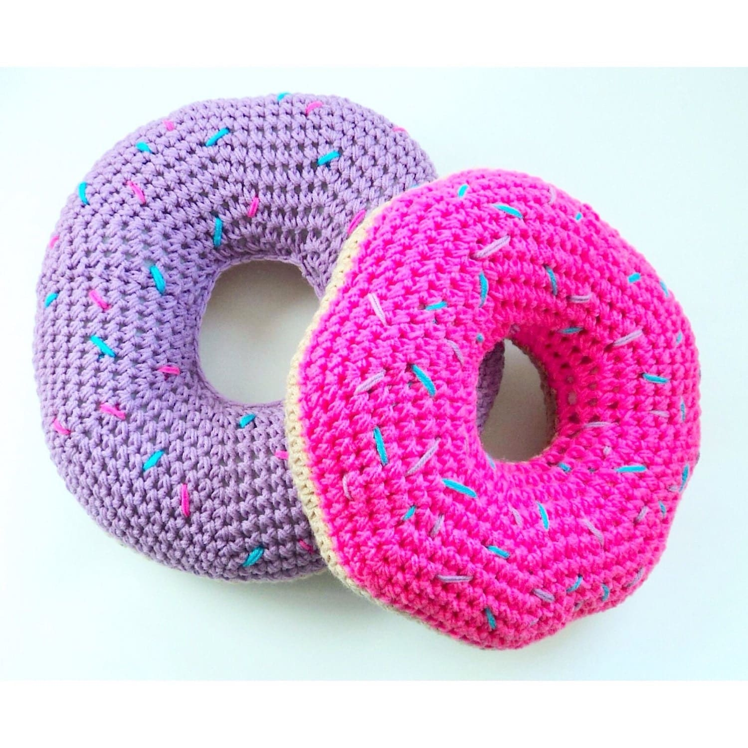 Crochet Donut Pillow : Donut Pillow Food Pillow Doughnut Pillow Foodie by OliviaLawsArt