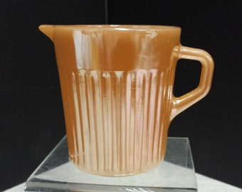 Fireking, Lusterware Syrup Pitcher/Creamer; Vintage; Excellent Condition