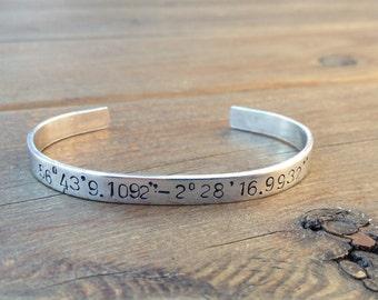 Custom Co-Ordinates Ajustable cuff bracelet
