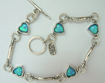 shablool sterling silver 925 Bracelet with opal stone b630