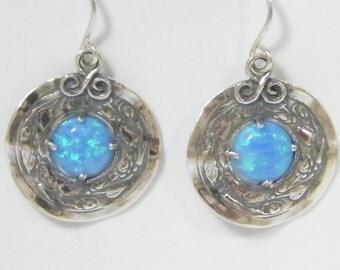 SHABLOOL earrings,sterling Silver 925 Earrings with opal stone e2080