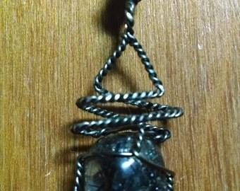 Tourmalated Quartz crystal pendant