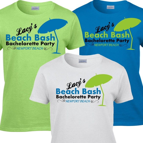 9 Beach Bachelorette Party T Shirts By Whynotstopnshop On