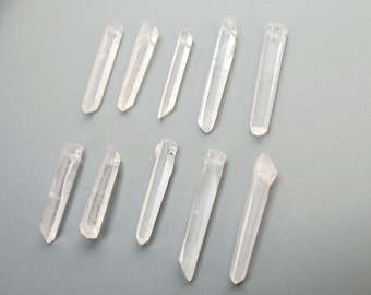 Top Drilled Raw Natural Rock Crystal Quartz Point Beads Rough Clear Rock Crystal Quartz Mineral Drusy Rock 30-40 mm