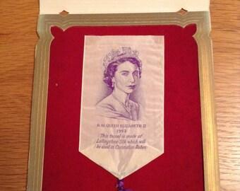 H.M.Queen Elizabeth II 1953 Lullingston silk