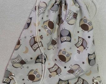 Lovely Owl Drawstring Bag - Ready to Ship
