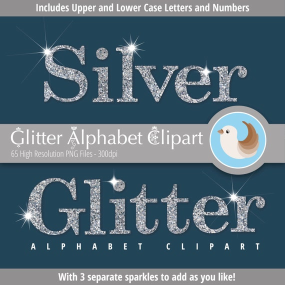 Sparkling Silver Alphabets: Items Similar To Alphabet Clipart
