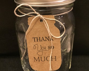 50 Thank You So Much Jar shaped Tags