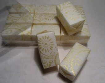 Stamped and Wrapped sugar cubes