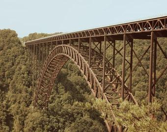 New River Gorge Bridge, West Virginia - Blue Sky - Digital download