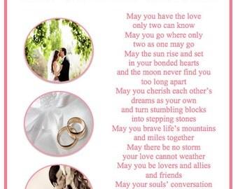 Wedding Poem Frame Wedding Present Gift