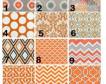 Orange Window Valances-Window Treatments-You Choose Your Size and Pattern