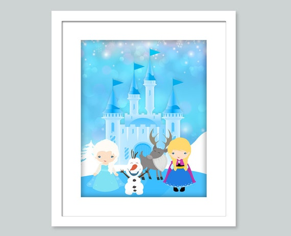 Wall Art Prints Download : Frozen wall art prints printable by enipixels
