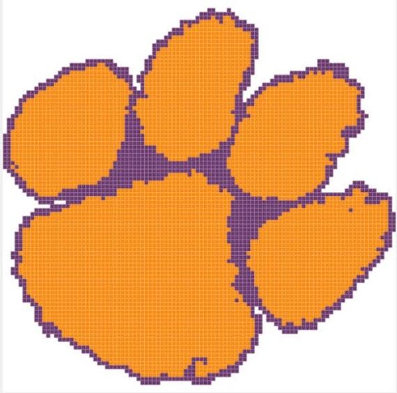 Stitch Paw Pattern Clemson by Cross Tigers