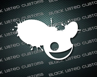 Deadmau5 Splatter Techno Electronic EDM Dubstep Custom Vinyl JDM Decal Sticker