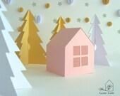 DIY Pop Up Paper Cottagel (Pdf file)