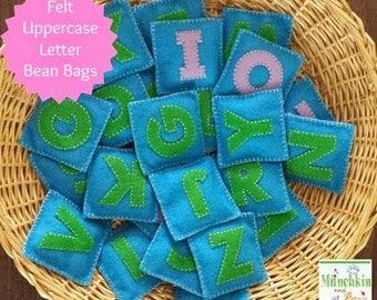 Uppercase Alphabet Felt Bean Bags
