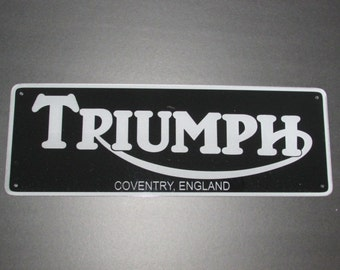 Triumph Motorcycles Coventry England Sign