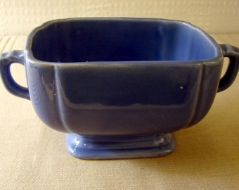 Blue Handled Sugar Bowl