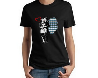 """LSD T-shirt """"She loves a man with acid on his tongue"""" by Jared Swart"""