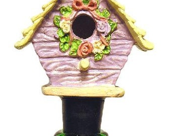 Wine Stopper Bird House Wine Bottle Stopper, Handmade and Upcycled
