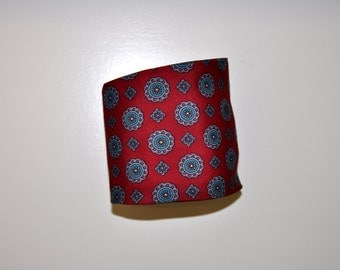 Men's Red Patterned Vintage Tie