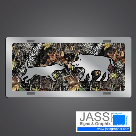 Camouflage license plates wild hog hunting for trucks for Buy illinois fishing license online